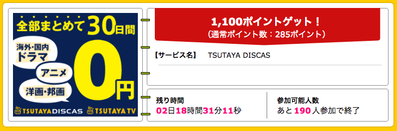 TSUTAYA DISCAS_ハピタス